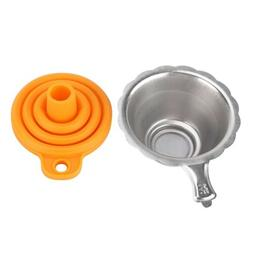 Metal UV Resin Filter Cup+ Plastic Funnel 3D Printer Kit,Lig