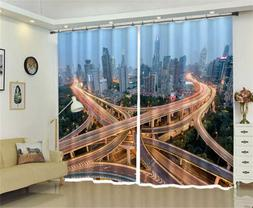 Multi Story Viaduct 3D Curtains Blockout Photo Printing Curt