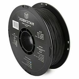 NEW HATCHBOX PLA 3 mm 3D Printer Filament in Black, 1kg Spoo