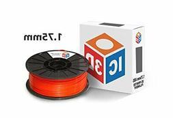 Orange 1.75mm ABS 3D Printer Filament - 1kg Spool - Dimensio