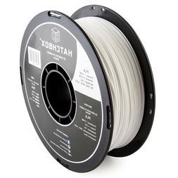 HATCHBOX PLA 1.75 mm 3D Printer Filament in White, 1kg Spool