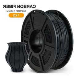 PLA 3D Printer Filament 1.75mm 1KG/2.2LB Spool Carbon Fiber