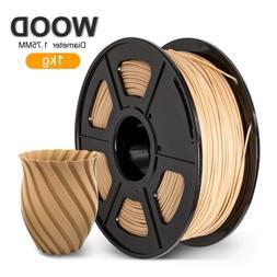 PLA 3D Printer Filament 1.75mm 1KG/2.2LB Spool WOOD texture