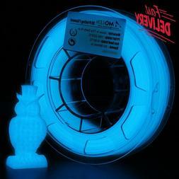 Amolen Pla 3D Printer Filament, 1.75Mm, Glow In The Dark Blu