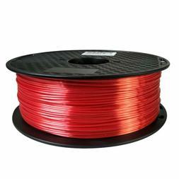 PLA Silk red Filament 1.75mm 3D Printer Filament 2.2 LBS Spo