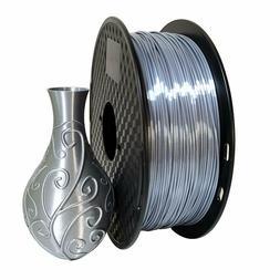 PLA Silk Silver Filament 1.75mm 3D Printer Filament 2.2 LBS