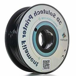 3D Solutech Real Black 3D Printer PLA Filament 1.75MM Filame