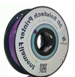 3D Solutech Real Purple 1.75mm ABS 3D Printer Filament 2.2 L