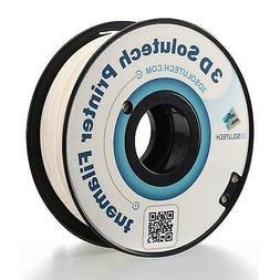 3D Solutech Real White 1.75mm 3D Printer PLA Filament 2.2 LB
