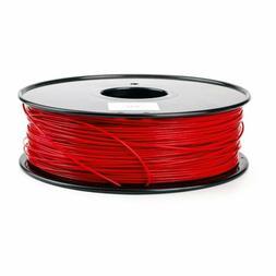 Red 3D Printer Filament 1.75mm PLA 1kg 2.2lb 335m For MakerB