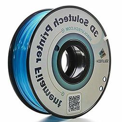 3D Solutech See Through Aqua Blue 3D Printer PLA Filament 1.