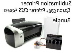 Sublimation Printer bundle Epson C88+, CISS filled Ink,100 S