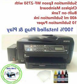 Sublimation Epson WF-2750 Chipless Built-on Tank Printer 400