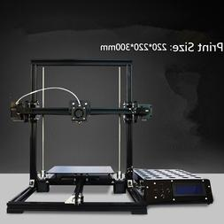 Tronxy Aluminium 3D Printer DIY KIT X3 MK8 Extruder LCD 2004