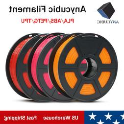 US ANYCUBIC 1.75mm PLA/ABS/ PETG/TPU Filament for 3D Printer