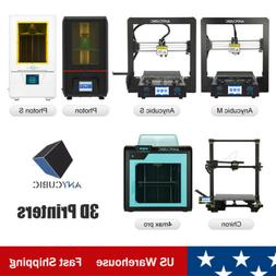 US ANYCUBIC 3D Printer LCD SLA Photon S FDM I3 Mega Chiron D