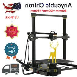 US ANYCUBIC Chiron 3D Printer Large Printing Size 400*400*45