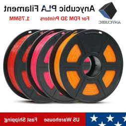 US New ANYCUBIC 1.75mm PLA Filament 1KG for FDM 3D Printers