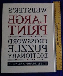 Webster's Large Print Crossword Puzzle Dictionary: Over 50,0