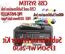 Epson WF-2750 Sublimation Printer Bundle,CISS Kit, Sublimati
